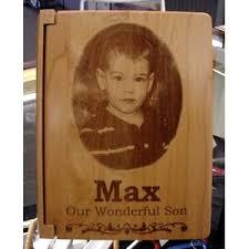 Engraved Photo Album Solid Wood Baby Album Enchanted Memories Custom Engraving