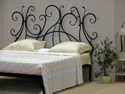 romantic vintage queen iron headboard bed designs also cast