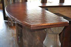 table with in round hammered copper top winston copper kitchen