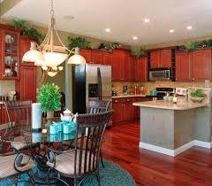 greenery above kitchen cabinets ideas with artificial leaf