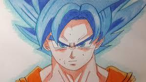 imagenes de goku para dibujar faciles con color como dibujar a goku dios azul paso a paso el dibujante youtube