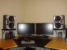 Monitor Pedestal Stand Space Saving Studio Monitors Speakers Stands 4 Steps With Pictures