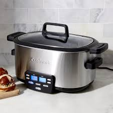 3 Crock Slow Cooker Buffet by Rice Cookers U0026 Slow Cookers Crate And Barrel