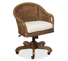 wingate rattan swivel desk chair pottery barn