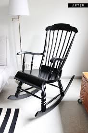 Black Rocking Chair For Nursery A Nursery Wooden Rocking Chair Makeover With Paint So Gna Do This