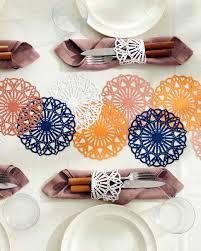 thanksgiving table runner pattern festive doily table runner martha stewart
