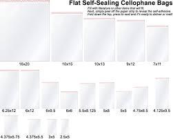 cellophane bags directory cellophane bags size guide