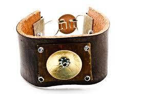 leather metal bracelet images Bracelets handmade by traci jpg