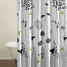 perry ellis asian lily cotton shower curtain walmart com