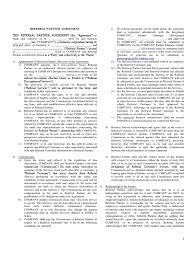 referral partner agreement template 1 indemnity contractual term