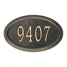 deco plaque metal address plaques u0026 house numbers