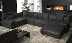 Large Black Leather Sofa Creative Of Black Sectional Leather Sofa Interiorvues