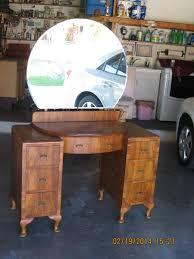 Antique Dresser Vanity Antique Vanity With Round Mirror Collectors Weekly