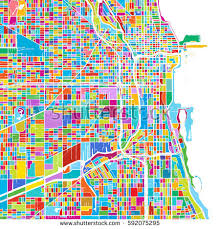 chicago map printable chicago map stock images royalty free images vectors