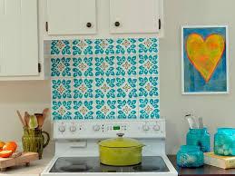 Hand Painted Tile Backsplash  Cabinet Hardware Room Simple Wall - Painted tile backsplash