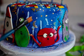 outer space cake aliens spaceships nigella