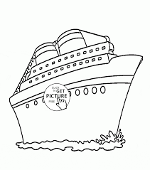 cruise ship coloring page for kids transportation coloring pages