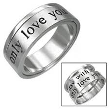 commitment ring womens only you promise ring commitment 316l