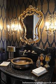 Black And Gold Room Decor Tour A Beautiful Victorian Home Decorated For Christmas Gold