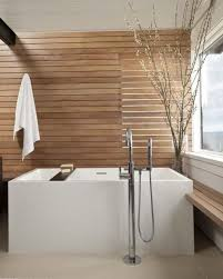 spa bathrooms ideas creating a feel with wood in contemporary bathrooms