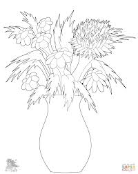 flowers in vase coloring page free printable coloring pages