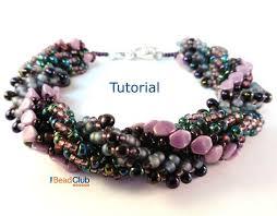 bracelet bead tutorials images Triple spiral bracelet beaded bracelet patterns seed bead etsy jpg