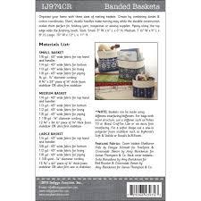 banded baskets sewing pattern from indygo junction u2013 indygojunction
