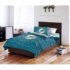 Miami Dolphins Rug Nfl Miami Dolphins Bed In A Bag Complete Bedding Set Walmart Com