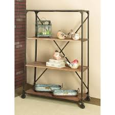 Sauder Premier 5 Shelf Composite Wood Bookcase by Reclaimed Wood Open Bookcase Zh141581r The Home Depot