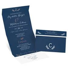navy blue wedding invitations accents foil seal and send invitation invitations by