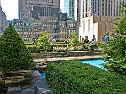 Rockefeller Center Summer Garden - secret rooftop garden atop the british empire building at