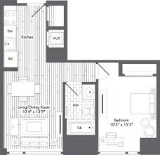 Boston 1 Bedroom Apartments by Floor Plans Waterside Place Apartments The Bozzuto Group Bozzuto