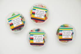 just make stuff week of school emergency snack gift