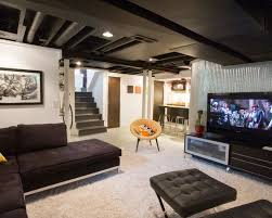 Basement Living Room Ideas Unfinished Basement Ideas On A Budget Best Designs Interior Design
