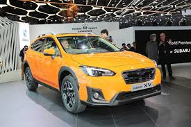 subaru yellow 2017 geneva motor show subaru xv revealed