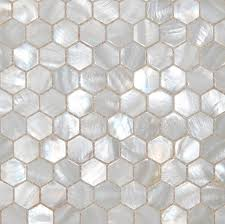 buy mop mother pearl tiles white hexagon mesh nature shell mosaic