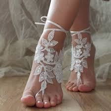 barefoot sandals for wedding white wedding barefoot sandals from byvivienn on etsy