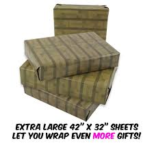 pixel wrapping paper pixel mine crafter style wrapping paper 3 pack spruce wood