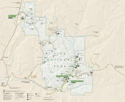 Colorado National Parks Map by Zion National Park Maplets