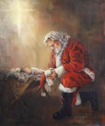 santa and baby jesus picture santa and baby jesus jolly ol st nicholas