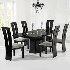 black and wood dining table dining table black gloss dining table and 6 chairs table ideas uk