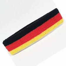 sports headband 2017 fashion germany flag black yellow sports headband