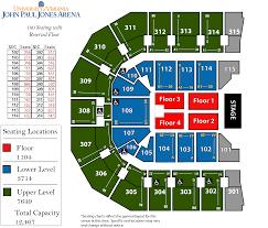 United Center Seating Map John Paul Jones Arena Home Of Uva Cavaliers Basketball