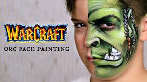 warcraft orc u2014 face painting u0026 makeup tutorial for boys youtube
