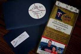 baseball wedding invitations diy entry 18 baseball ticket invites elizabeth designs