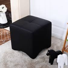 Leather Cube Ottoman Adeco Brown Black Bonded Leather Cube Ottoman Footrest Free