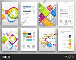 graphic design templates for flyers set flyer brochure design vector photo bigstock