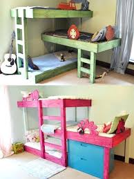 Small Bunk Beds Rooms Ideas 3 Children Bunk Beds In Small Shared Bedroom