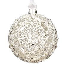 2012 lunt jeweled snowflake silver ornament silver superstore