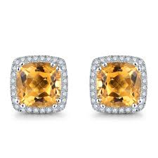 citrine earrings cloths of heaven trendy luxury 5 0ct 100 genuine yellow